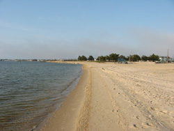 one of Lavallette's bay beaches