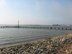 one of the two lavallette fishing docks in Barnegat Bay